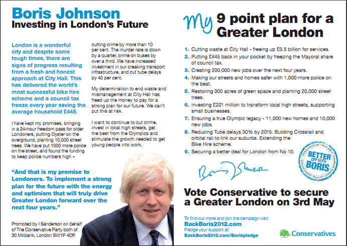 Boris Johnson (Conservatives)