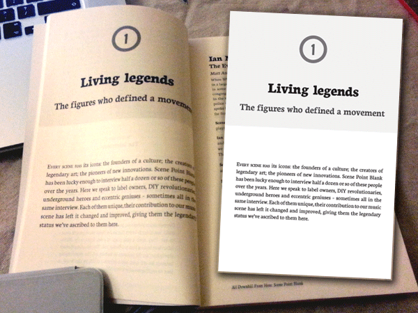 Chapter heading pages